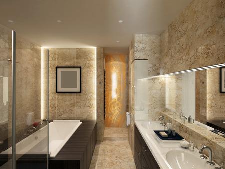Baño moderno Foto de archivo - 35395255