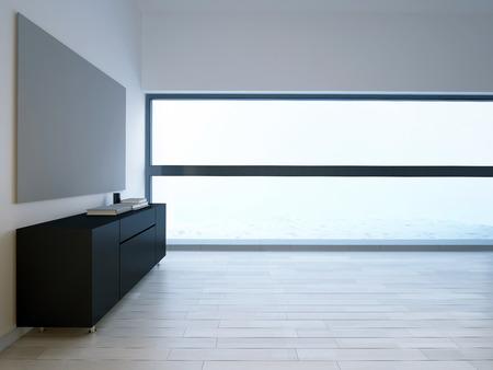Sala de estar vacía con marco Foto de archivo - 35416308