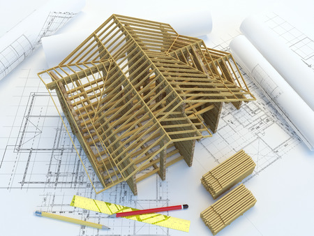 construction draftsman: Framing of new home construction