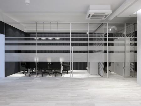 Modern office interior. Meeting room. 3D rendering. Stok Fotoğraf