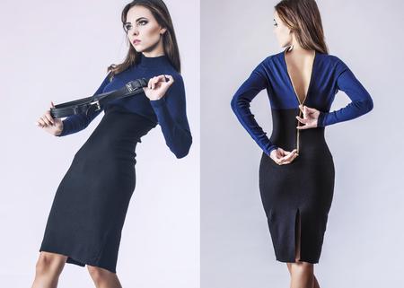 sexy photo: Fashion model beautiful woman Studio photography. Fashion, beauty, sexy, makeup, clothing, laugh