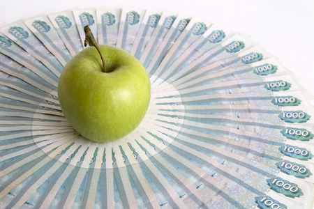 Green Apple on banknotes.