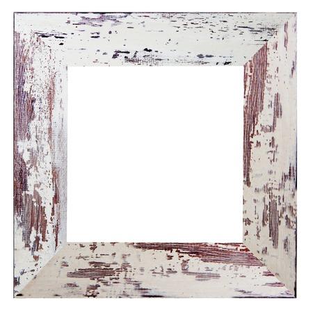 shabby chic: shabby white frame
