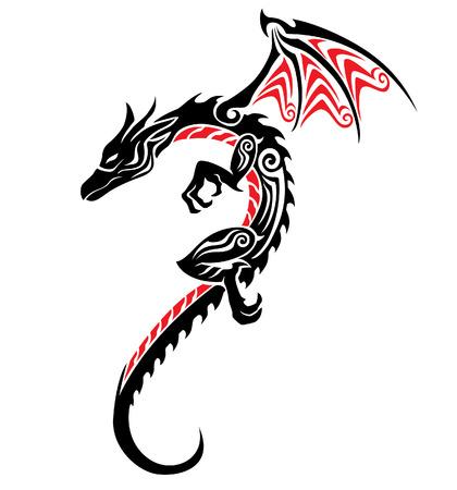 tribali: Dragon Tattoo tribale Vettoriali