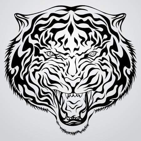 Tiger Face Tattoo1