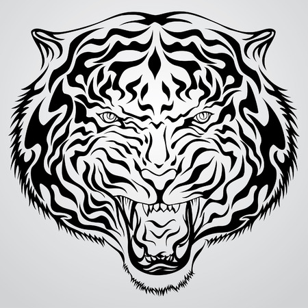tigress: Tiger Face Tattoo1