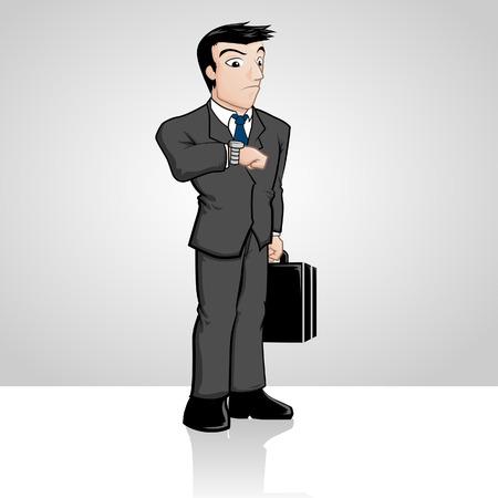 Businessman Waiting Çizim