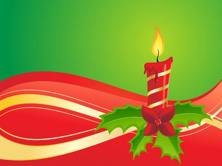 yearrn: christmas candle Illustration