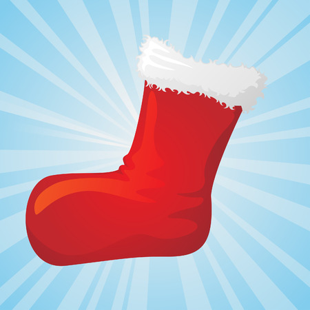 santas christmas sock Vector