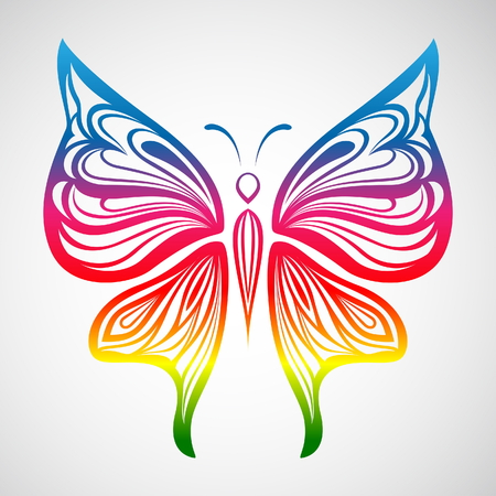 Colorful Butterfly 1 Illustration