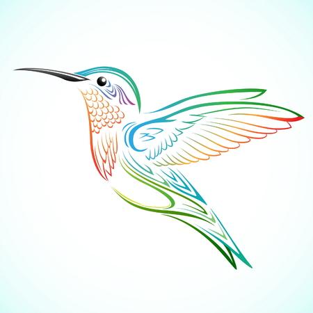 Kleurrijke Hummingbird Stock Illustratie