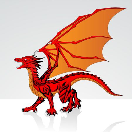 red dragon: Red Dragon Illustration