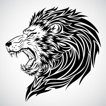 Lion Roar Tattoo  Stock Illustratie
