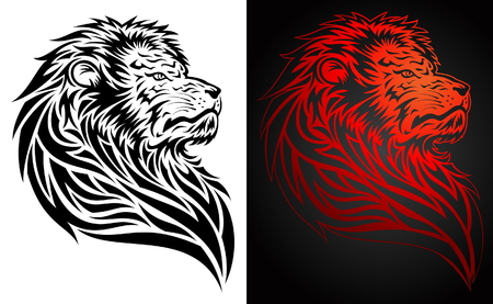 tatouage visage: Fiert� Lion Tattoo