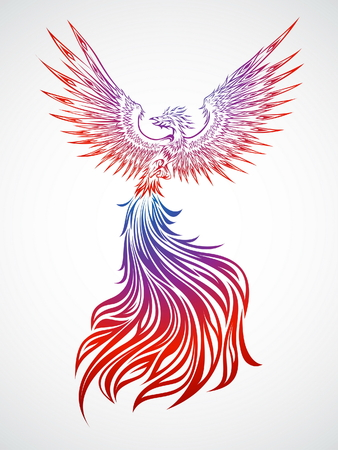 Soaring Phoenix Illustration