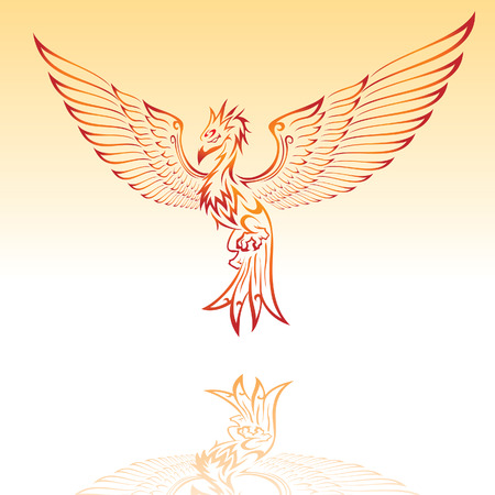 Burning Phoenix Vector