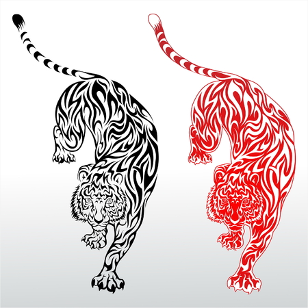 Tiger Tattoo Stok Fotoğraf - 7915430