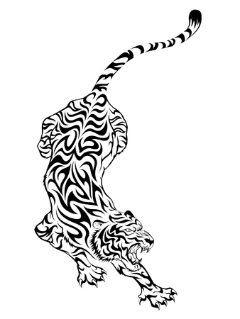 Fierce Tiger Tattoo Stock Vector - 7915415