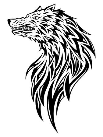 black wolf: Wolf Head Tattoo