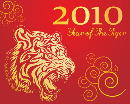 Year of The Tiger 4 Vector