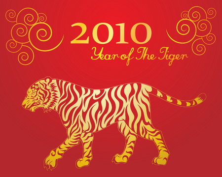 Year of The Tiger 1 Vector