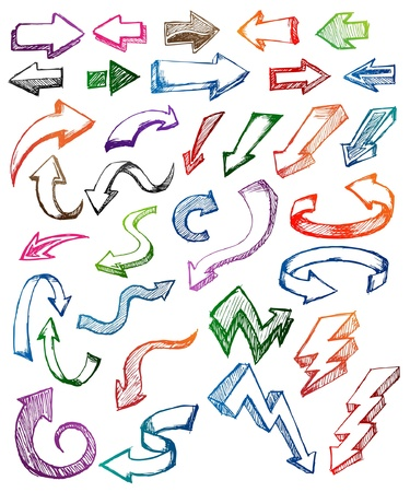 right arrow: Flecha Doodle Vectores
