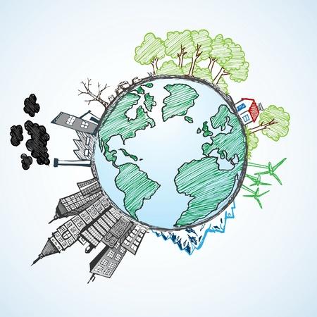 Earth Doodle Vector