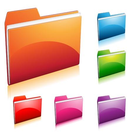 embossed paper: Folder Icon
