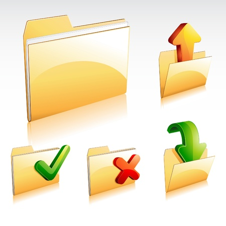 Folder Icon Set 1 Vector