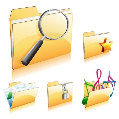 Folder Icon Set 2 Stok Fotoğraf - 9155589