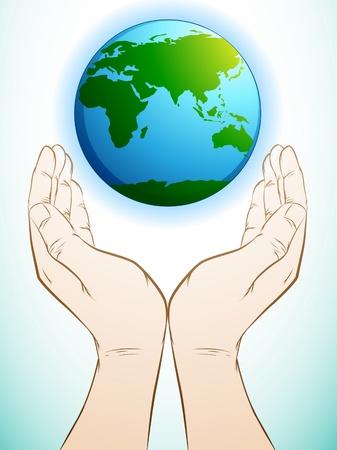 Hand met aarde