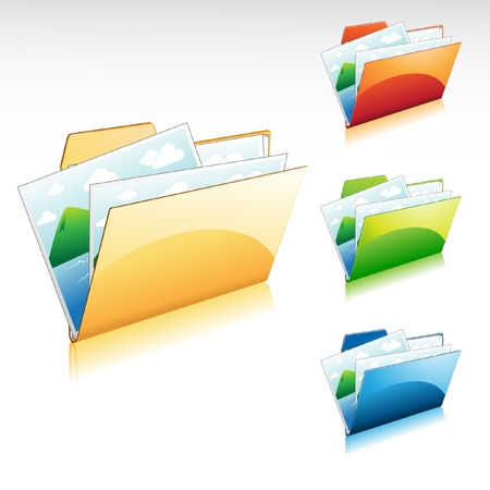 filling folder: Image Folder Icon