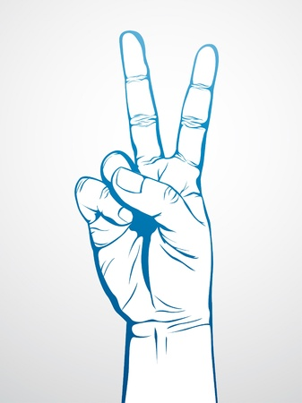 finger paint: Peace Sign Illustration