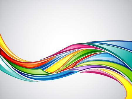 curve lines: Colorful Background 2