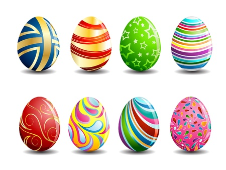 egg shape: Painted Easter Eggs