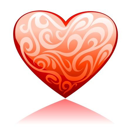 Ornament Heart Vector