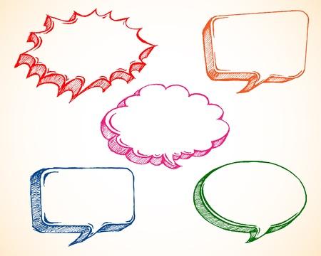 Schetsmatige tekstballon Stock Illustratie