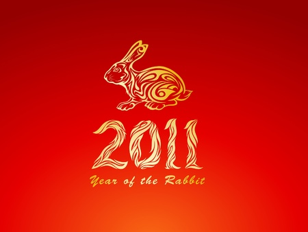 Year of The Rabbit Vector