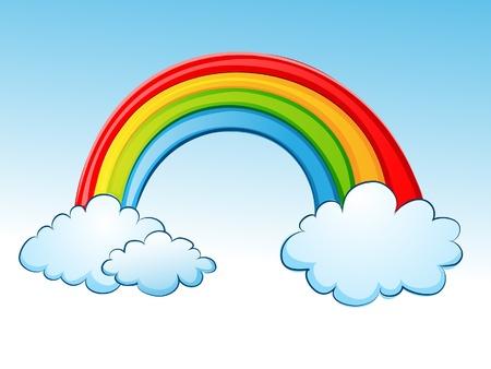 clouds cartoon: Rainbow