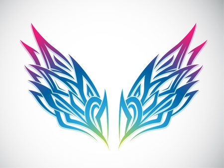 Colorful Wings Vector