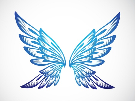 Blue Wing Vector