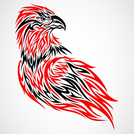 Eagle Tattoo Stock Vector - 10086815