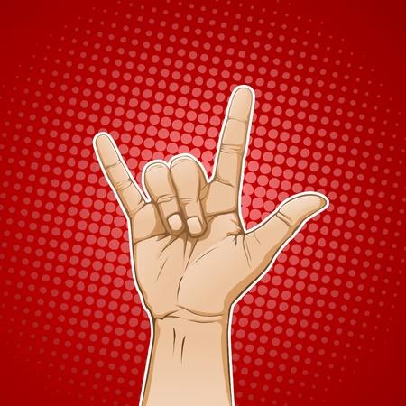 RockLoveHorn Sign Vector