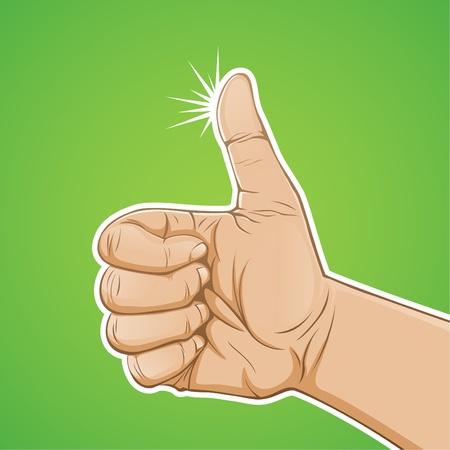 dedo: Polegares para cima Ilustração