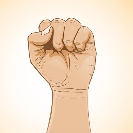 fist fight: Fist Illustration