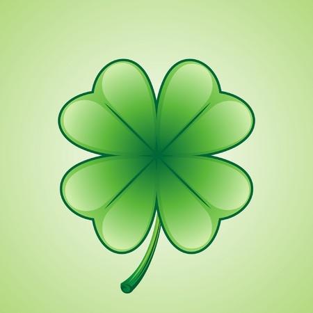 Lucky 4 leaf clover Stock Vector - 10086818