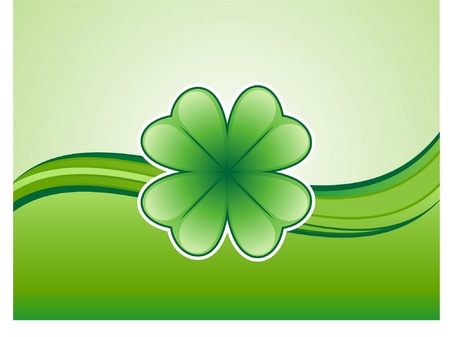 irish banners: Shamrock Background Illustration