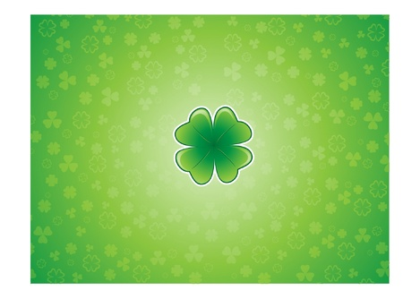 Lucky Shamrock background Stock Vector - 10086832