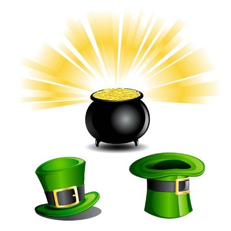st patrick day: St Patrick Day Objects Illustration