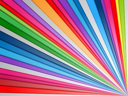 Kleurrijke Lines Stock Illustratie